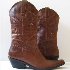 Matisse Albuquerque Brown Leather Boots Sz 6 1/2